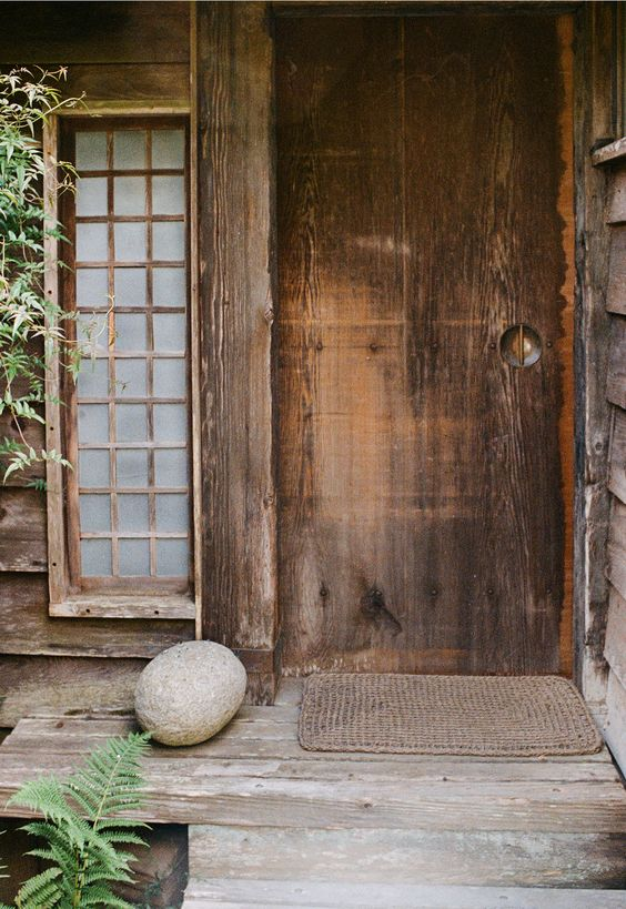 doorway, front entrance; the influence from his time in Japan is evident