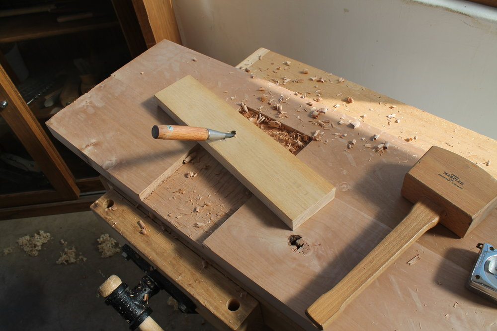 fine tuning the dados with a 'poor mans router'