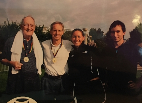 (Left to Right) Bill Keating Sr, Bill Keating Jr, Caroline Keating, Joseph Keating