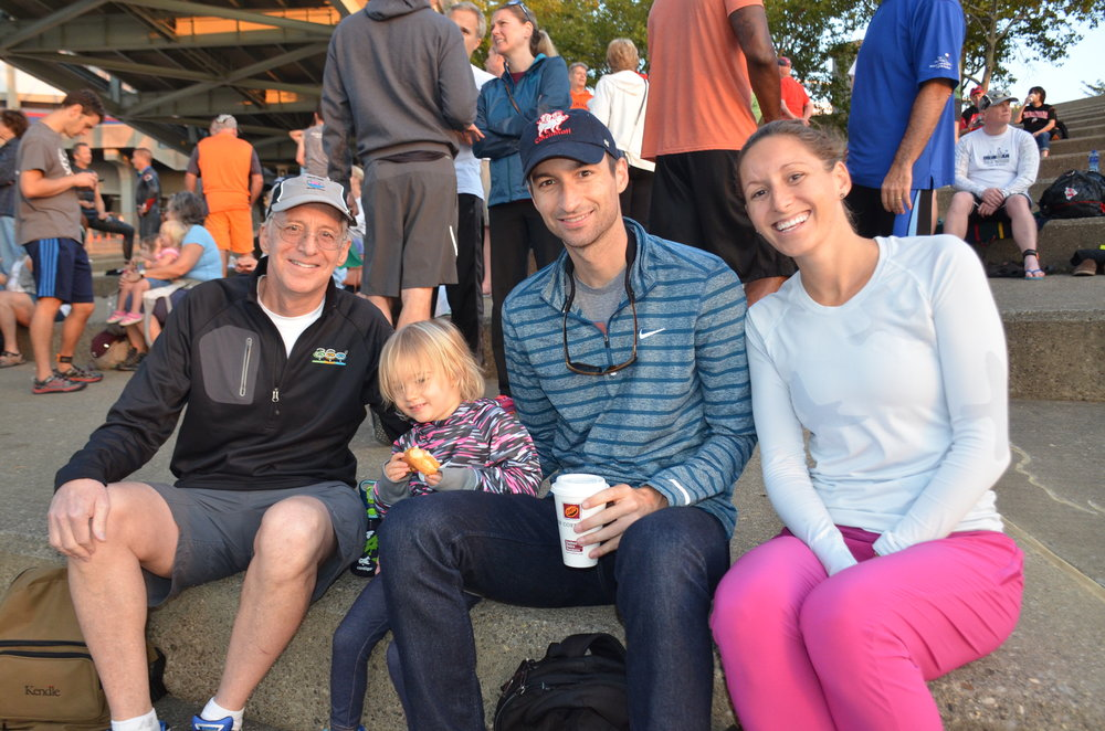 The Keating Family at the 2016 Great Ohio River Swim  (Left to Right) Bill Keating Jr, Annette Keating (Bill's Grandaughter), Jack Keating, Caroline Keating