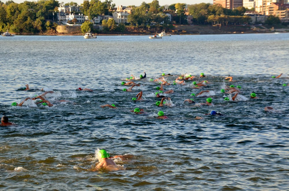The Bill Keating, Jr.  Great Ohio River Swim - is the only open water swim on the Ohio River to cross the river and back.  Start at the Serpentine Wall and swim across the Ohio River to Kentucky.  Once you have reached Kentucky come back across the Ohio River to Public Landing in the heart of Cincinnati!