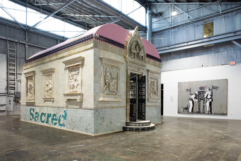 FAILE, Faile Temple, ceramic, marble, bronze, cast iron, steel, limestone, mosaic, 2011, 16' x 30' x 14'