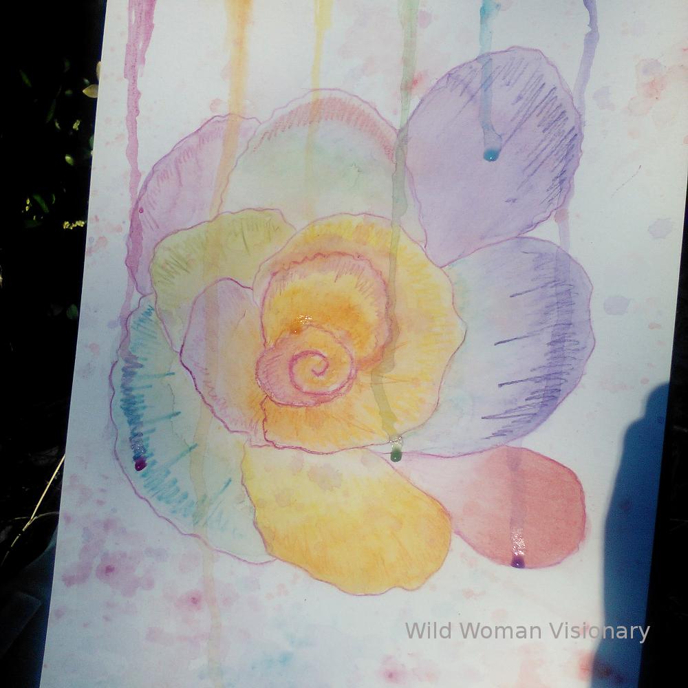 Day 3 - Rainbow Petals Flower