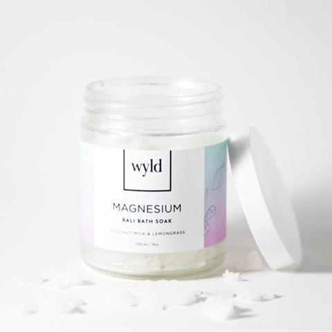 3.  Wyld Magnesium Bali Bath Soak