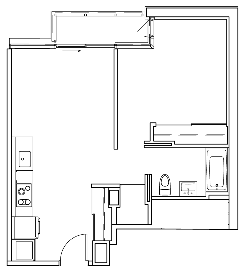 ONE-BED - LAYOUT C