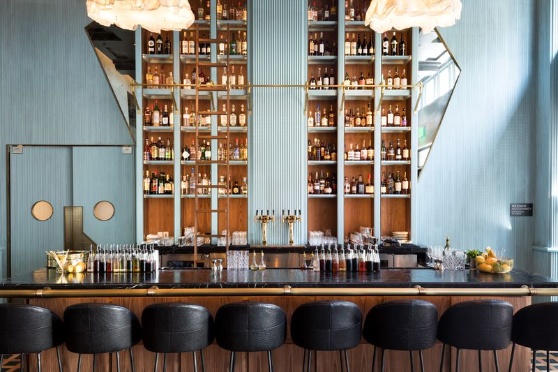 Villon's Modern Aesthetic Brings Lively Contrast to an Historic Space in Mid-Market - Villon, the newest Mid-Market dining hopeful within the Proper Hotel, is now open. The restaurant offers all-day dining from chef Jason Franey