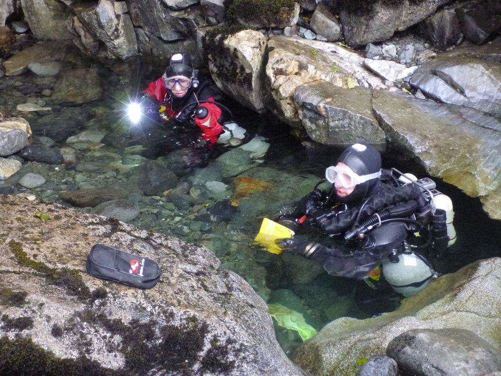 Chrissy Richards and Jason Richards on the second trip to Wet Dream, completing survey.