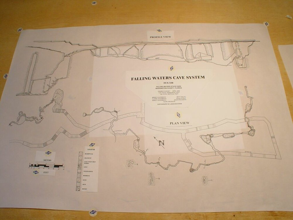 The original hand drawn map, prior to photocopying. I use preprinted elements to make them look better.