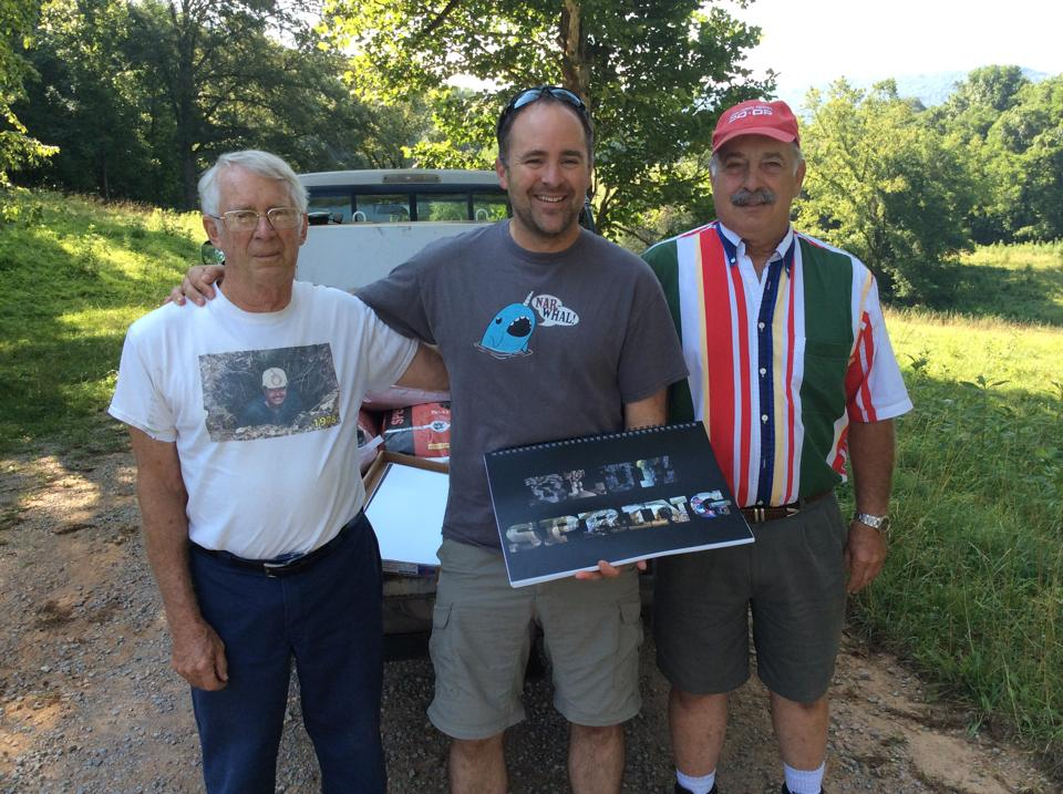 Jason with Lonnie Carr (R) landowner, and Bill Walter (L) Lead Explorer and surveyor for more than 20 years.