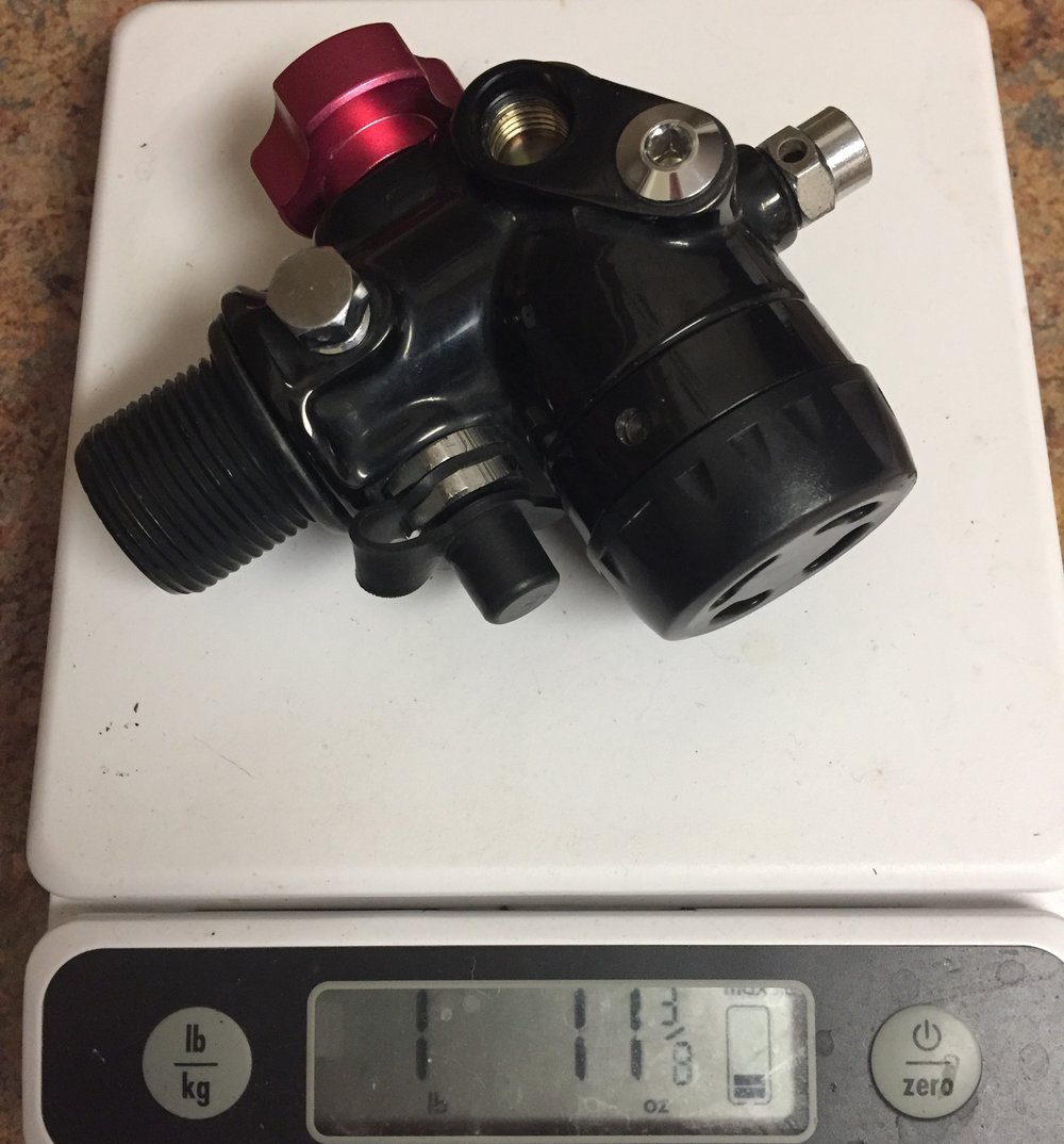 The H2Odyssey valve/regulator combo, courtesy of Mike Young.