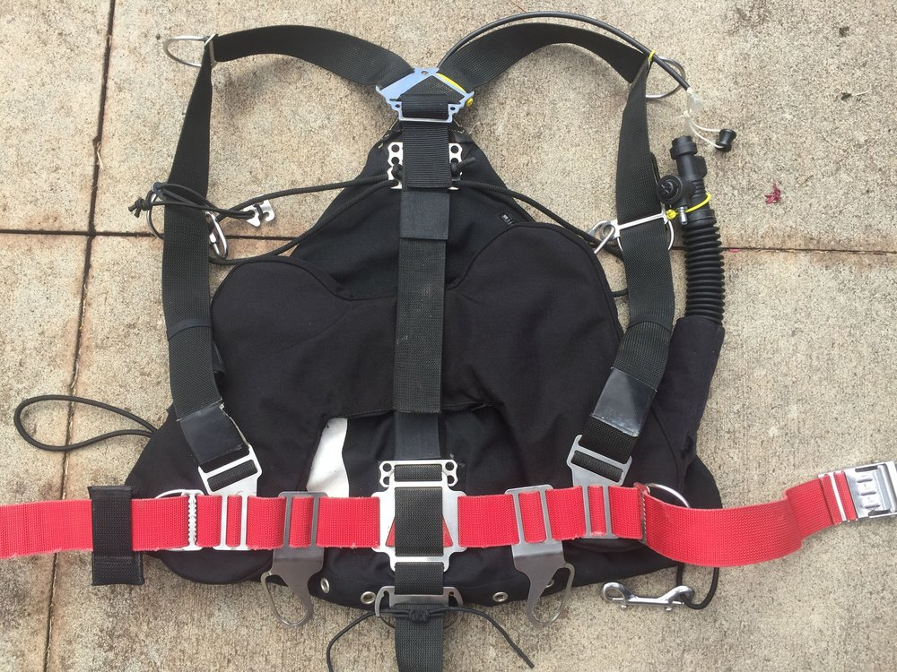 The small counterlung with the wing and harness.