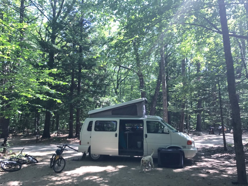 camping in a vanagon