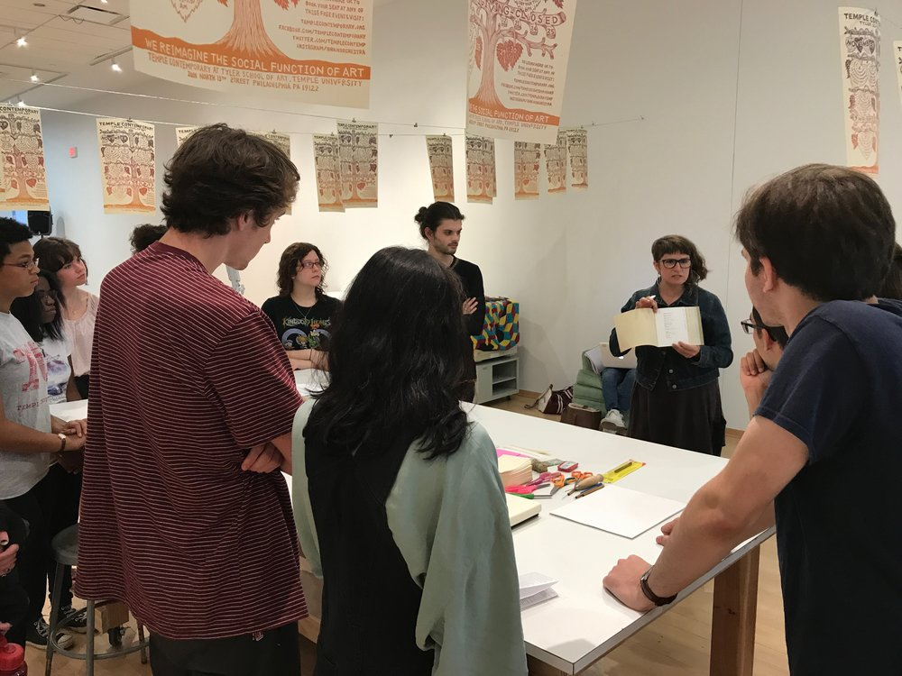 Bookbinding workshop at Philalalia 2017 (Tyler School of Art, Philadelphia, PA)