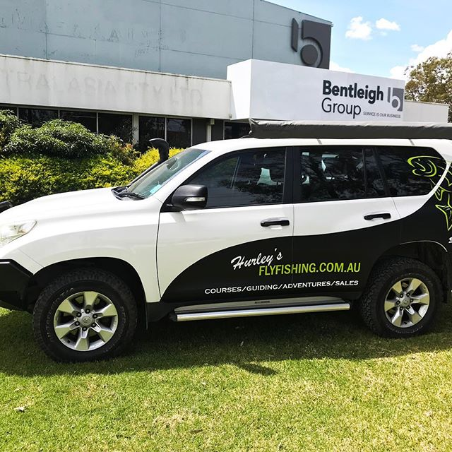 Vinyl vehicle wrapping is an effective way to help spread your business message. Bentleigh Group specialise in designing and installing the right vinyl wrap for your vehicle @hurleys_fly_fishing  #vinyl #vehiclewraps #bentleighgroup #hurleysflyfishing