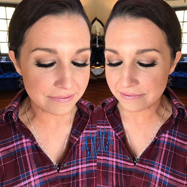 I always Love a soft smokey eye. I used Ardell Demi wispies to complete the look! You always need fake lashes in my opinion! These are my favorites to use. They look amazing on almost everyone! ⁣  Who else loves a fake lash?! #wispylashes ⁣ #nudelip #softsmokeyeye #wispieslashes #softsmokeyeyes #decemberwedding #mirrormirror