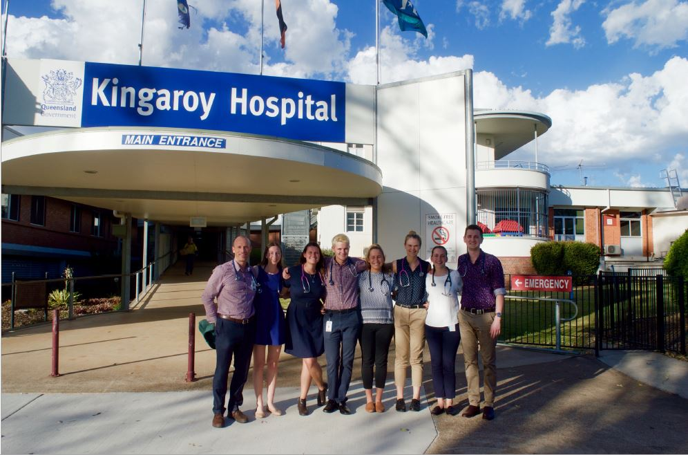 The Kingaroy Hospital with a group of new and old friends.