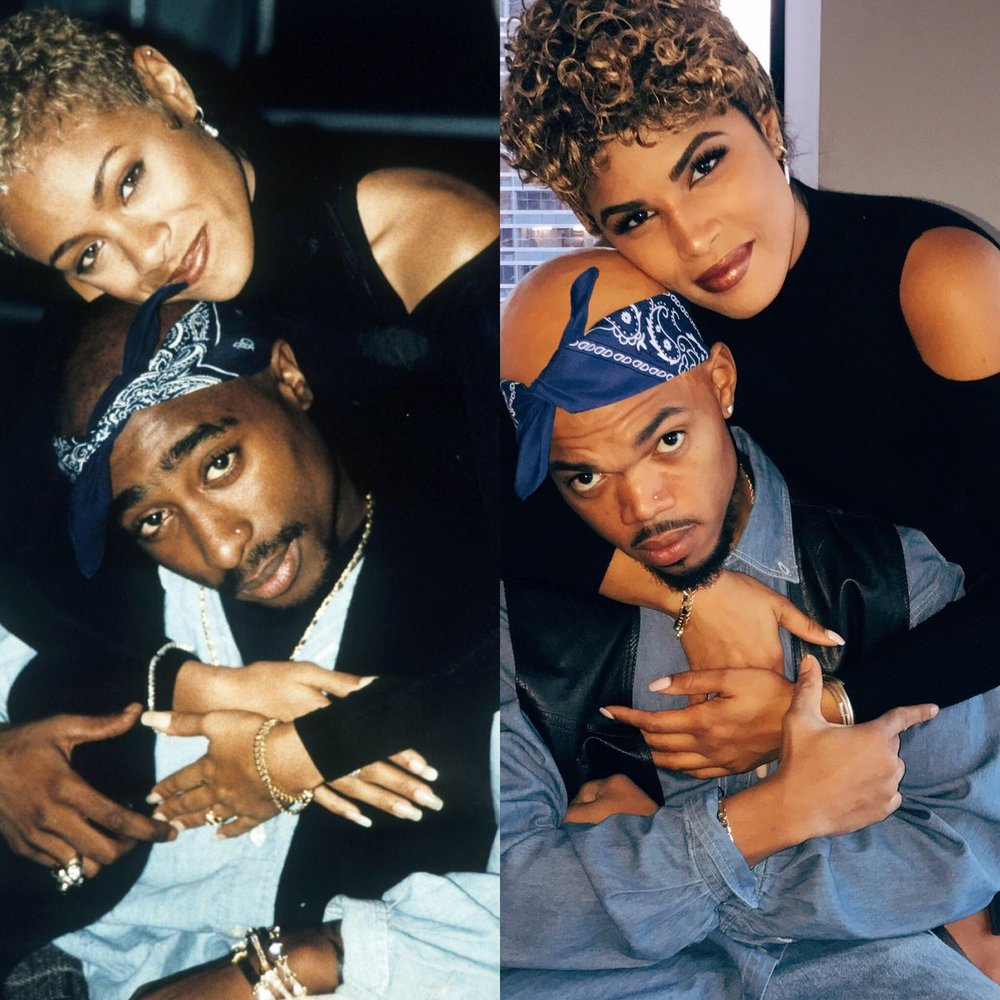 Chance the rapper and kirsten corley - as Tupac and Jada Pinkett Smith