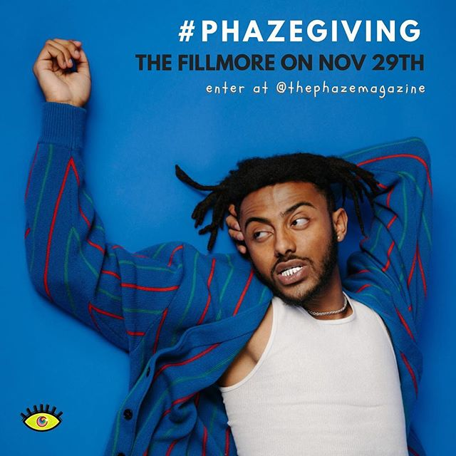 Today's the LAST day to enter our ticket giveaway for @Aminé at The Fillmore Silver Spring on November 29th!! ⏰ Did we mention that @buddy will be there too? Simply comment what you're thankful for with the hashtag #PHAZEGiving and follow us for a chance to win. The winner will receive TWO tickets, so make sure to tell your friends in the D.C., Maryland and Virginia areas 🔥🔥🔥 . . . . . . . . . . . #dmv #dc #concert #phaze #fillmore #magazine #music #washingtondc #virginia #maryland #baltimore #dmvevents #giveaway #musicislife #hiphop #rnb #entertowin #comment #like #musician #pop #singer #rapper #livemusic #photooftheday #free #partnership #photography