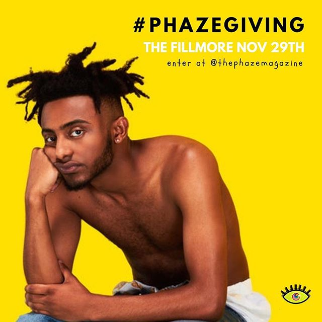 ✨Last call!✨ #PHAZEGiving is almost over! PHAZE Magazine is giving away two tickets to see Amine live at The Fillmore on November 29th. To win, comment below BEFORE MIDNIGHT with the name of someone or something that you are thankful for during Thanksgiving break. Make sure to follow us on Instagram and use the hashtag #PHAZEGiving to enter. ————————————————— Here's How To Enter: 📍Comment below with the name of someone or something that you are thankful for 📍 Use the hashtag #PHAZEGiving in your comment 📍 Must be following us on Instagram @thephazemagazine . . . . . . . . . . . #dmv #dc #concert #phaze #fillmore #magazine #music #washingtondc #virginia #maryland #baltimore #dmvevents #giveaway #musicislife #hiphop #rnb #entertowin #comment #like #musician #pop #singer #rapper #livemusic #photooftheday #free #partnership