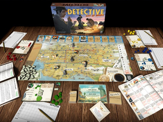 It's Not Too Late - There's still time to pre-order Detective: City of Angels and the expansion, Bullets Over Broadway. Don't miss this epic, narrative-driven board game set in the violent world of 1940's Los Angeles!