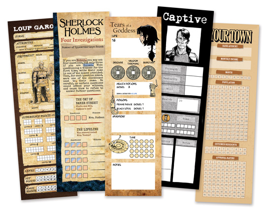 Free Bookmarks - Mark your pages and track your stats with a unique bookmark for each of our Graphic Novel Adventures. You can download them right now on our website.