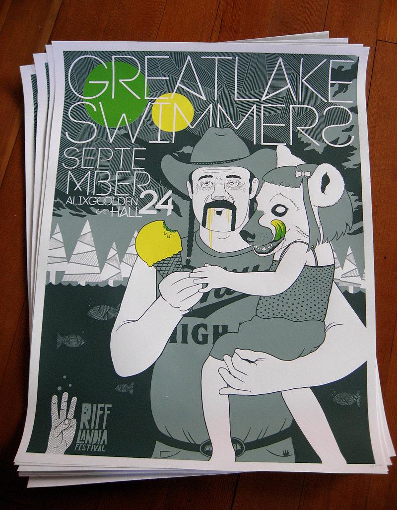 Matt's Great Lake Swimmers poster