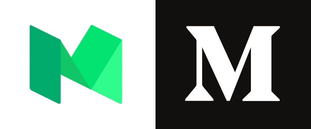 Medium logo: Old & new