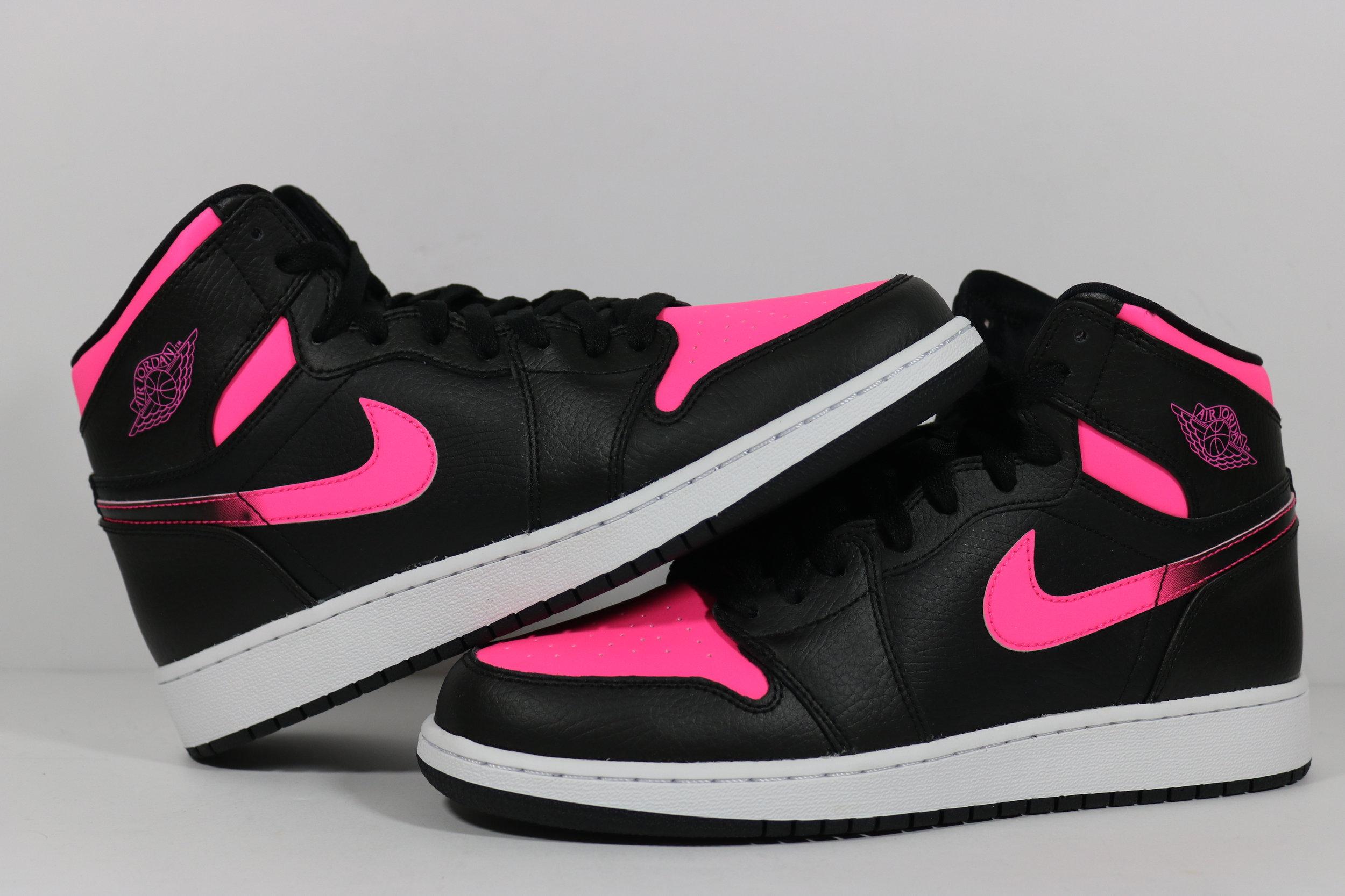 girls nike air jordan 1 retro high gs hyper pink size 8y 332148 019 1. eac4780ba