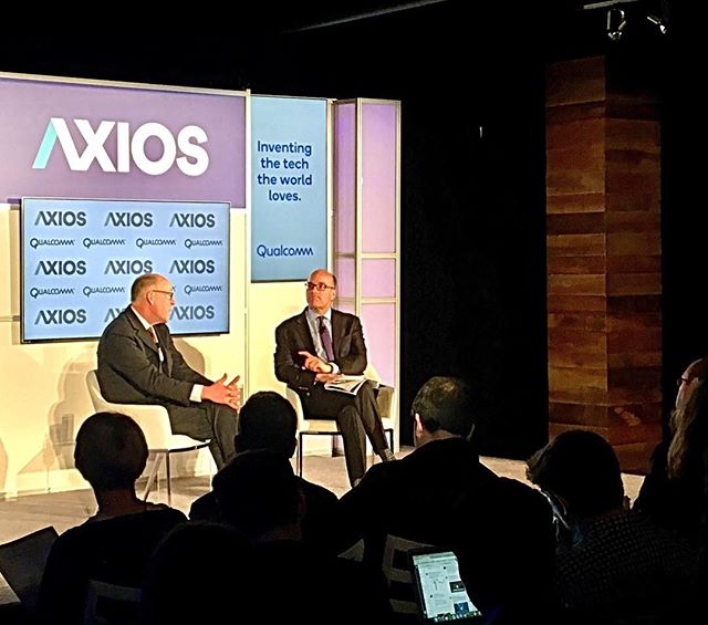 """Re: our current tech climate: """"If the responsibility doesn't flow, then regulation will."""" Greg Walden -Chairman of the Energy and Commerce Committee @axiosnews #Axios360"""