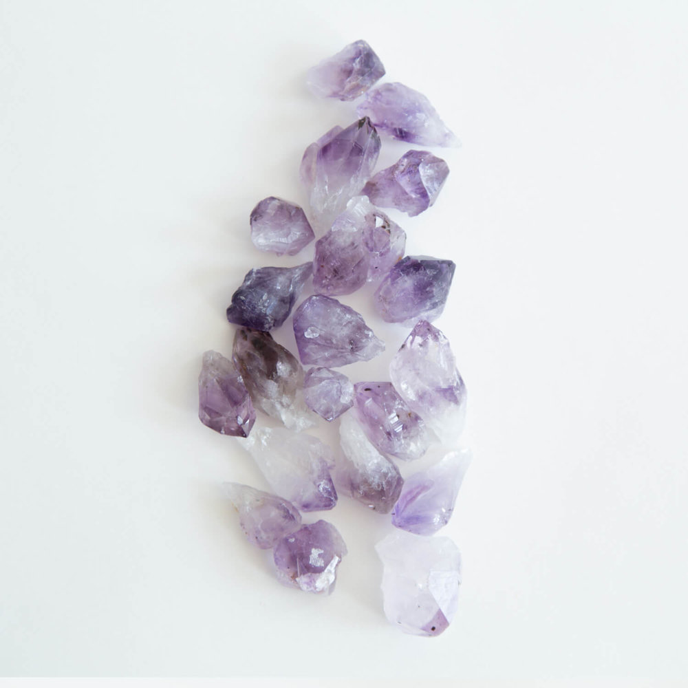The first choice for many meditations,  amethyst  is a powerful and protective crystal. It encourages inner strength and peaceful energy. It helps develop intuition and psychic abilities by connecting the physical plane with the spiritual realm. It is also used to overcome addictions.