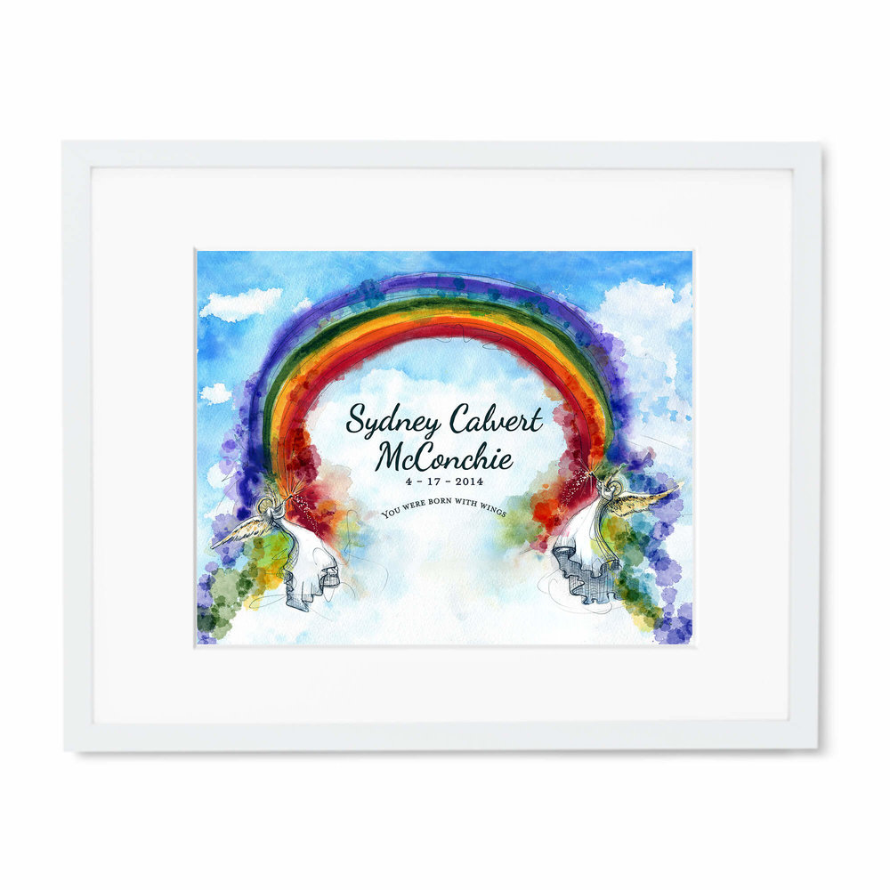 Baby or child\'s room personalized angel artwork — Melinda Gail