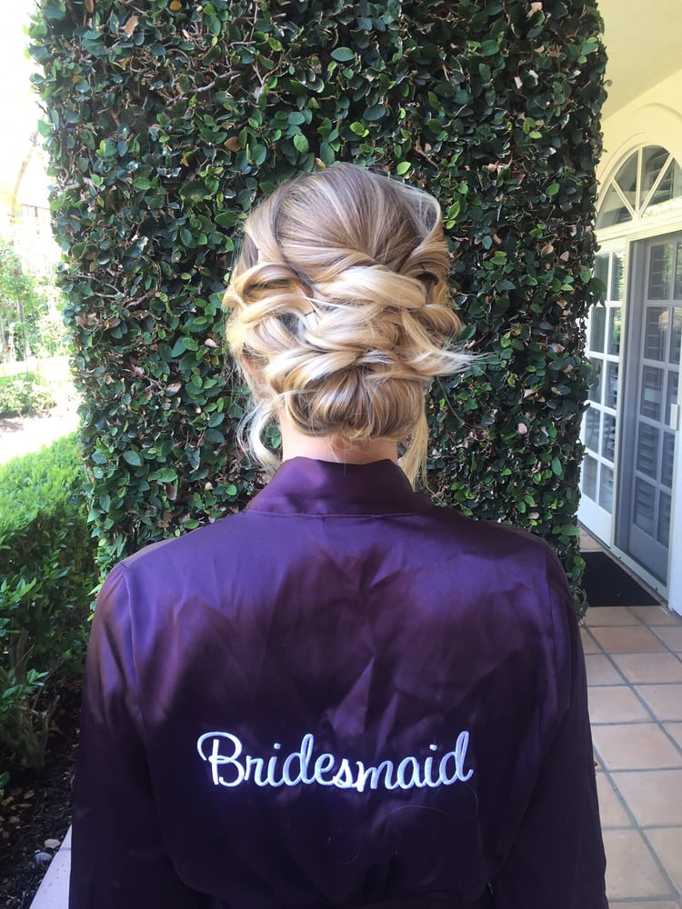 Blonde Bridesmaid Pinned Curls Updo.jpg