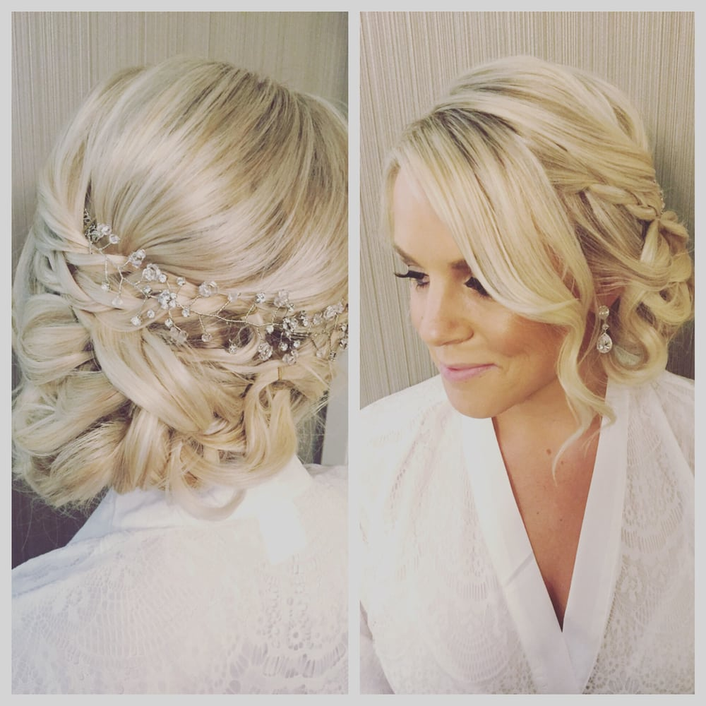 Bridal Blonde Hair Low Pinned Curls Diamond Jewel Accessory.jpg
