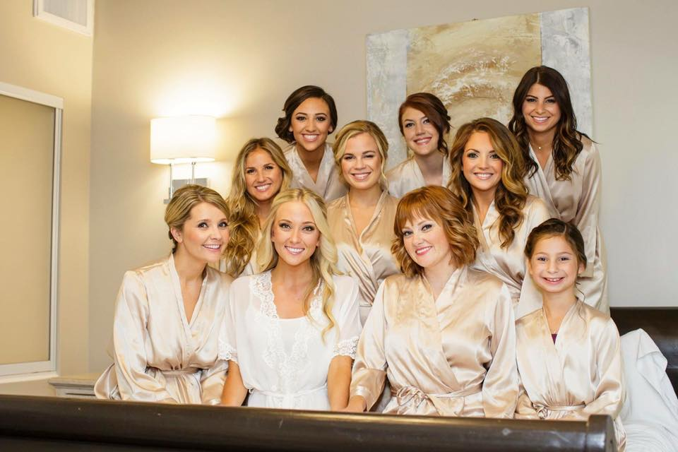 Blonde Bride and Bridesmaids Classic Half Up Hair.jpg