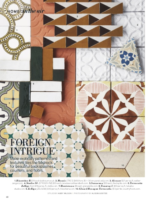 Tilesofezra Moroccan Zellige Mosaic International sales as seen in Veranda Magazine New York