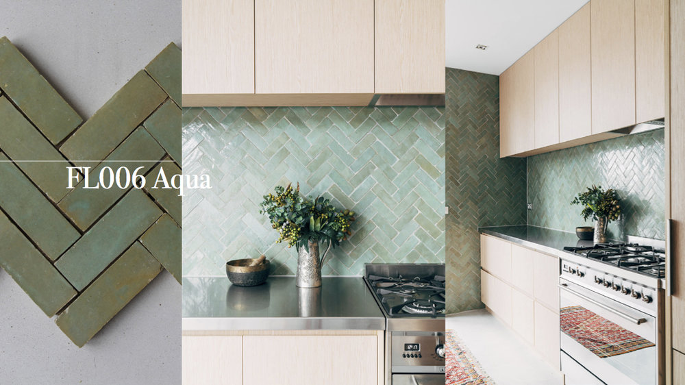 Tilesofezra Moroccan Zellige Mosaics Splashback Kitchen Design Australia  Georgia Ezra GABBE Interior Design Colour Green Aqua
