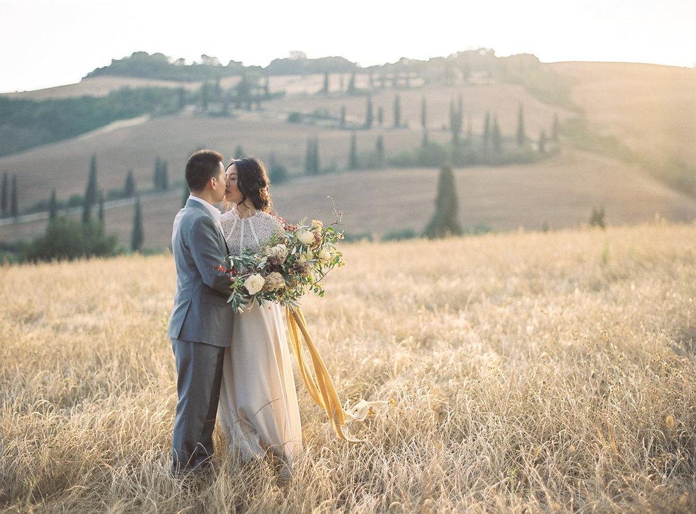 CATHERINE & KEVIN  Tuscany, Italy —  Katie Grant Photo