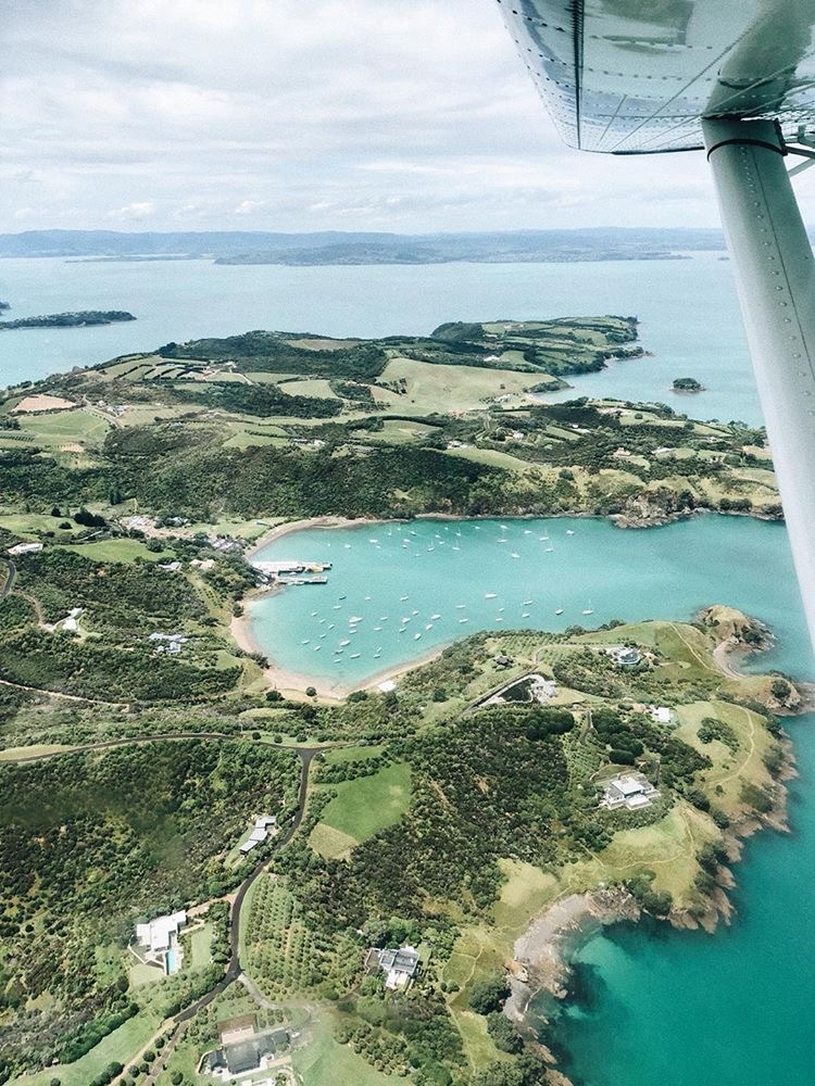 India Heath took the Romer way to the island by seaplane