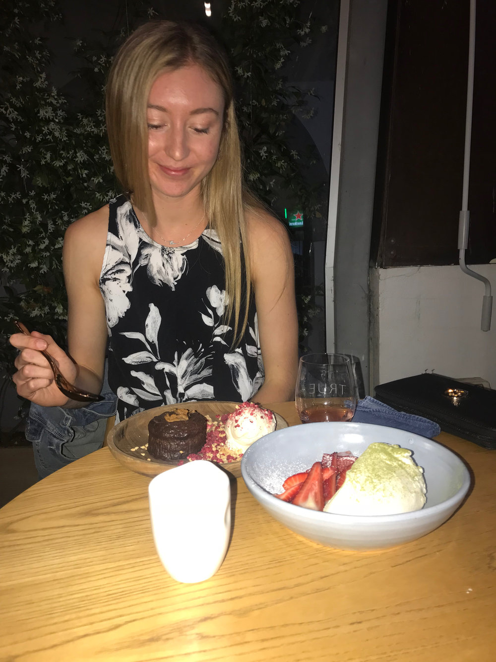 Lauren Meale found a delicious spot for dessert