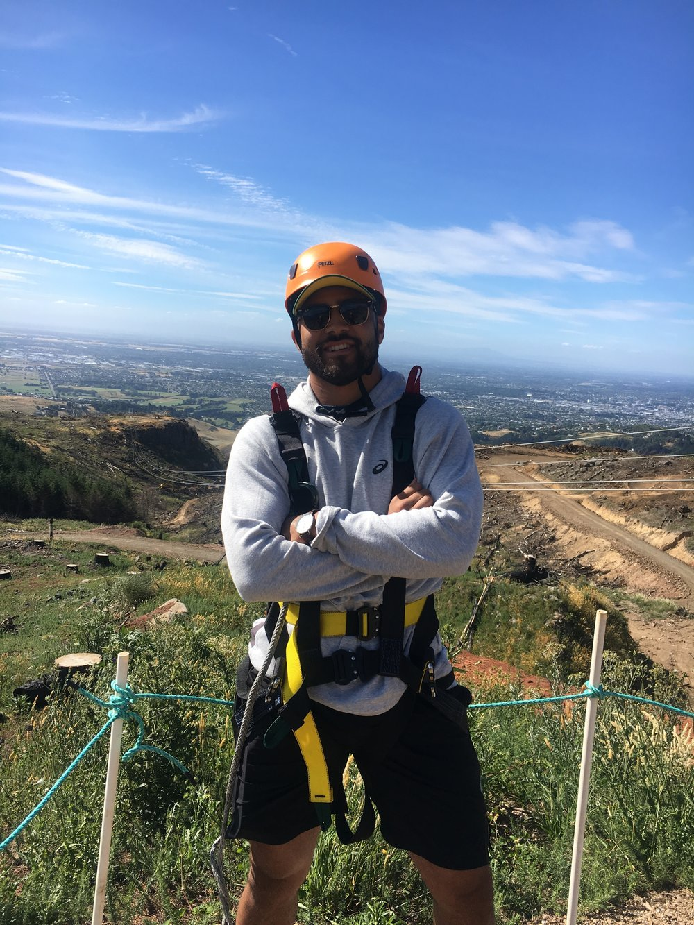 Richie Mounga at Adventure Park with Romer app