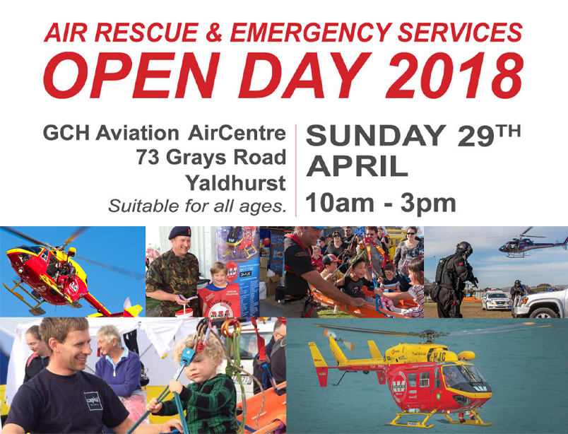 1. Air Resuce and Emergency Services open day  Sunday