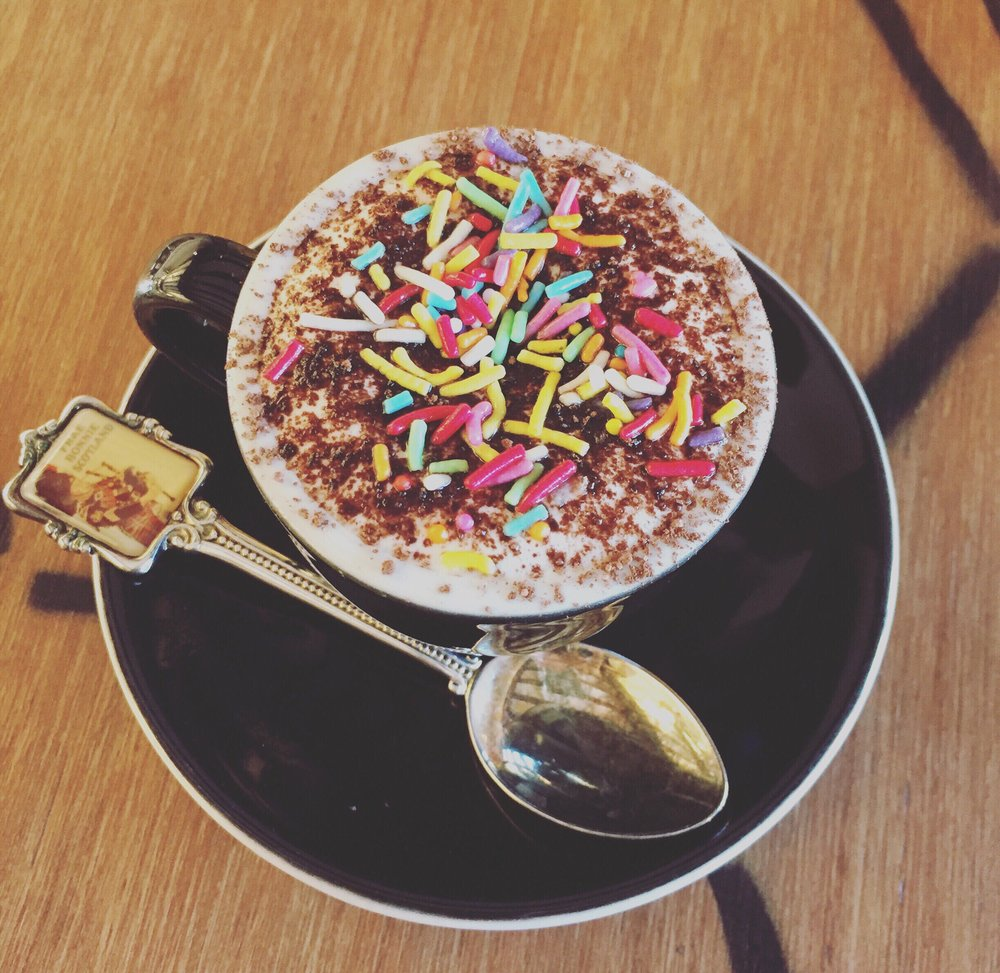 5. While you enjoy a coffee take the little ones out for a fluffy bursting with colour at Bunsen