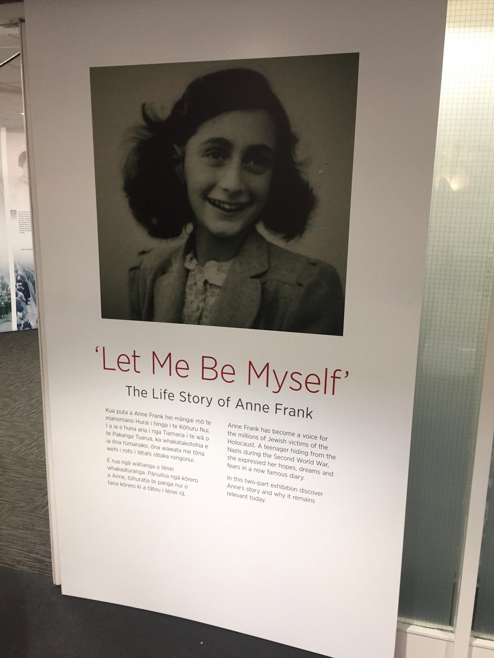 5  . Take your dad to the Air Force Museum of New Zealand with a special Ann Frank exhibition