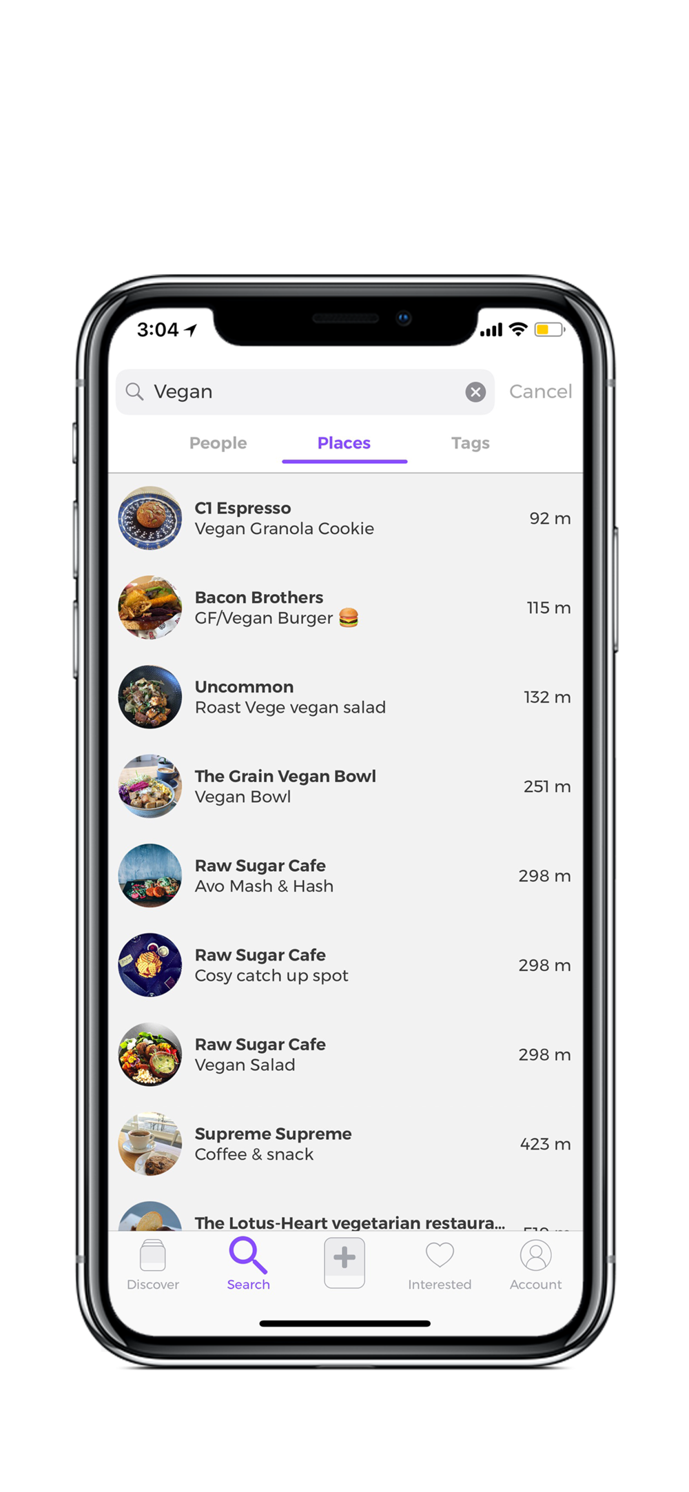 Searching - How do I search for something eg Vegan, child friendly?In iOS and soon to Android you can search using the 'search' tab for anything from the closest waterfall to where to find the best chocolate experiences around you.