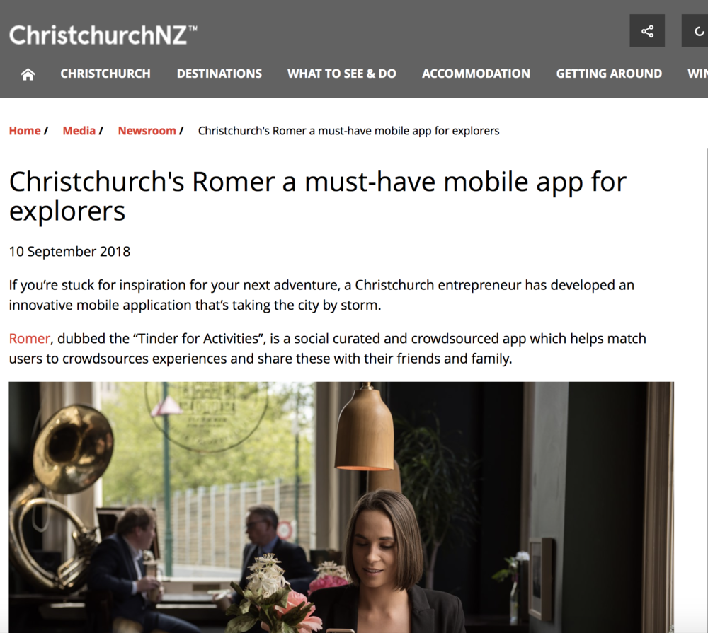 Romer in-app advertising must have app