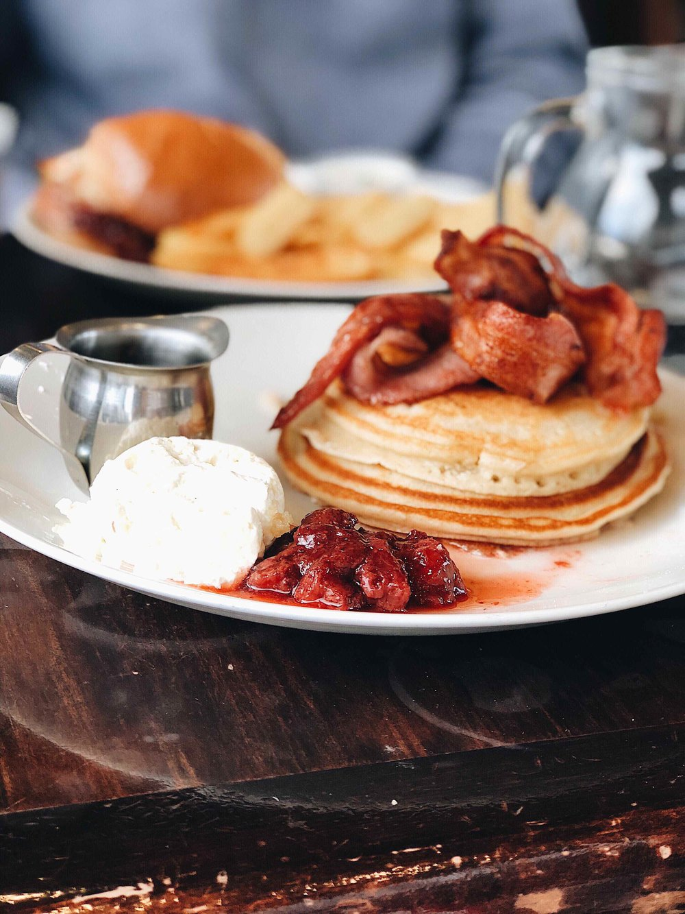 1. Must try pancakes at Brigittes - Of course after all those adventures you deserve a treat for brunch so in at number one we have Harriet Blue's pancake recommendation featured at Brigittes, Merivale.Pancakes with streaky bacon, maple syrup, macerated strawberries and fresh whipped cream are a must try for $19 plus enjoy the sunshine with outdoor seating as an option also.#brunch #family #pancakes