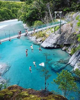 2. Go for a swim after a walk at the Blue Pools -