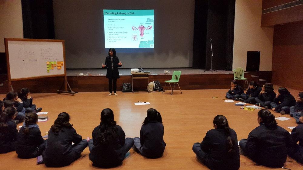 Workshops with Children.