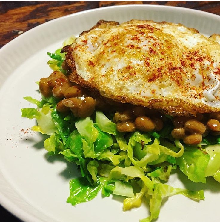 Brussel Natto with Fried Egg