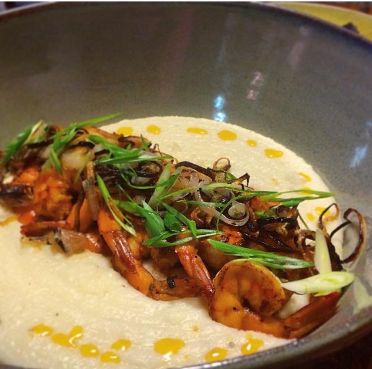 Coconut Shrimp & Grits